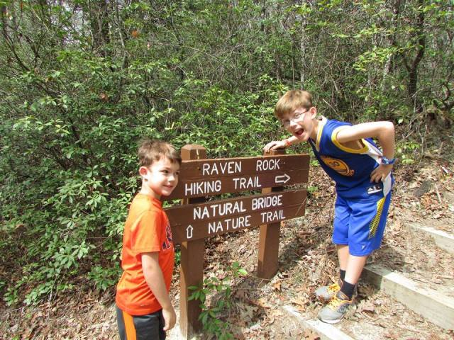 Boys hiking - The Family Glampers