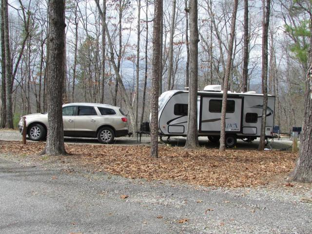 Car with camper_The Family Glampers