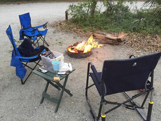 Edisto campfire