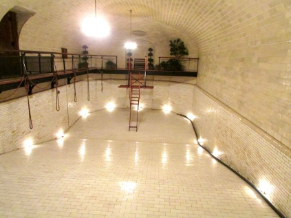 The indoor swimming pool inside the Biltmore House was quite impressive, both then and now!