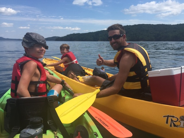 Lake Jocassee Kayaking - The Family Glampers