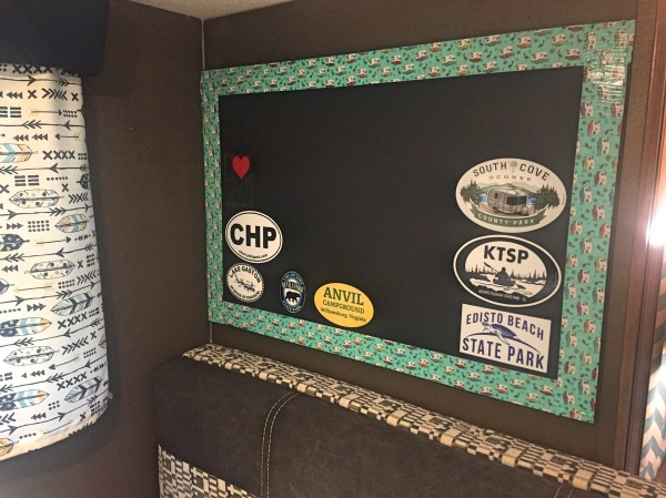 Easy to Make Travel Sticker Boards for Campers