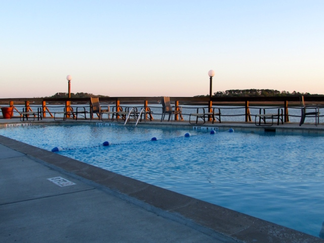 Hilton Head Harbor Pool - The Family Glampers